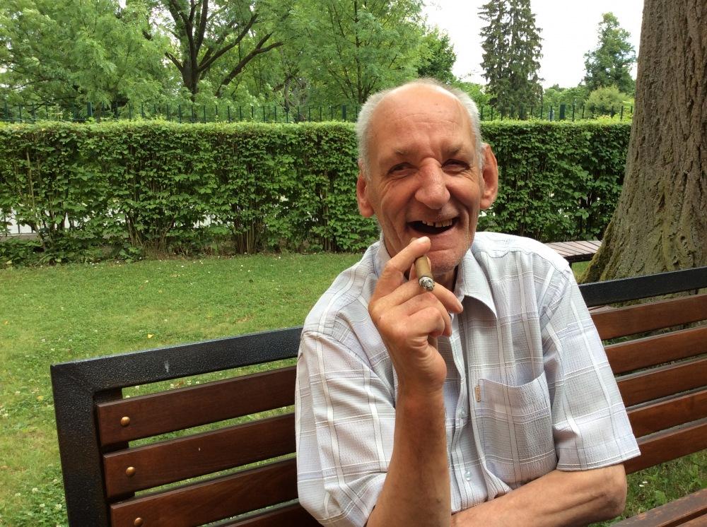 Pan Jan Holeček - jubilant při oslavě 65. narozenin dne 26.6.2017